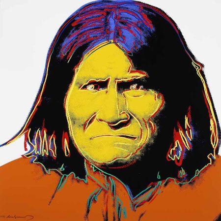 Serigrafía Warhol - Geronimo, from Cowboys and Indians