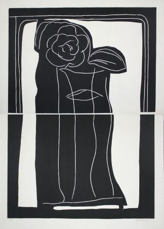 Linograbado Hernandez Pijuan - Gerro Amb Flors / Vase With Flowers