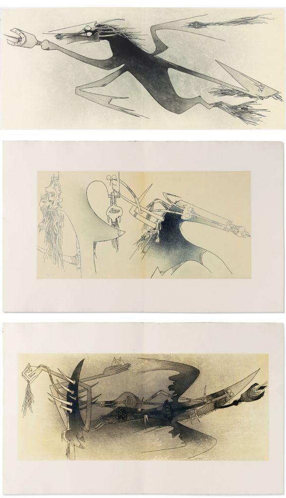 Libro Ilustrado Lam - Ghérasim Luca : Apostroph'Apocalypse. 14 eaux-fortes de Wifredo Lam (1967).
