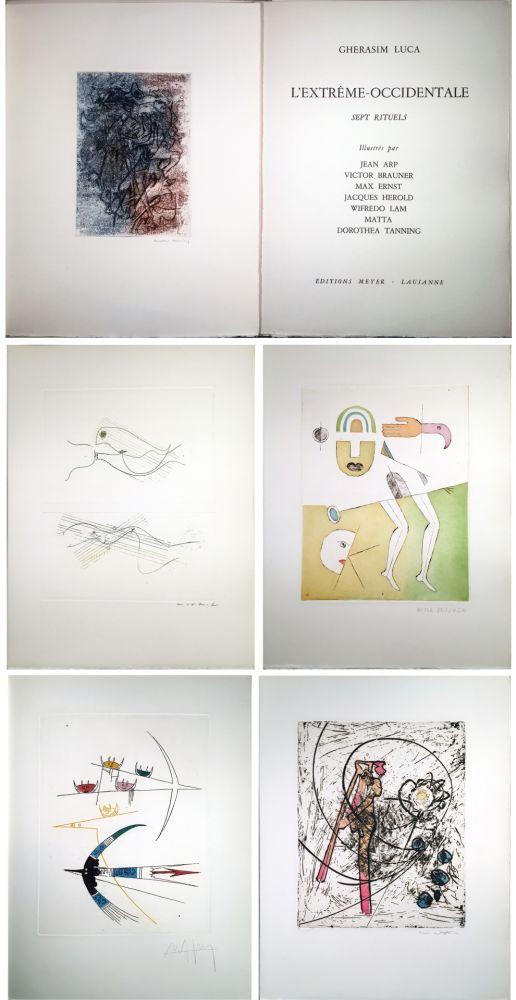 Libro Ilustrado Ernst - Gherasim Luca : L'EXTRÊME-OCCIDENTALE. Gravures de Max Ernst, Victor Brauner, Dorotea Tanning, Hans Arp, Jacques Hérold, Wifredo Lam, Roberto Matta.