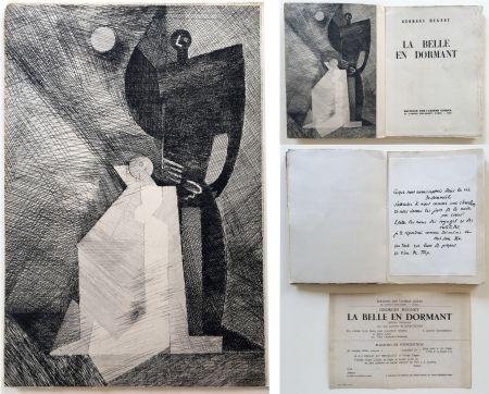 Libro Ilustrado Marcoussis - G.Hugnet : LA BELLE EN DORMANT. 1 des 10 avec l'eau-forte de Marcoussis (1933).