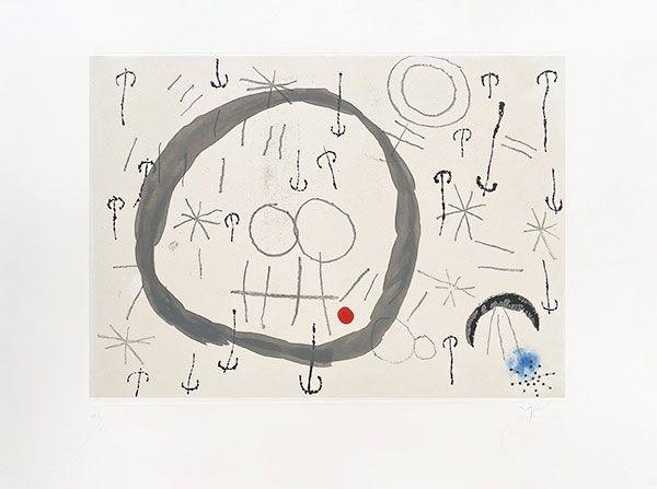 Grabado Miró - Giboulées