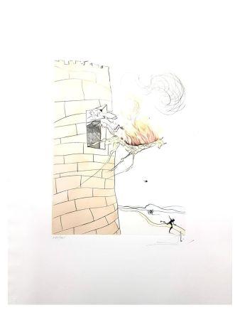 Litografía Dali - Girafe en Flamme