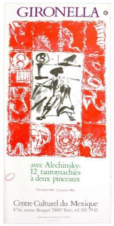 Cartel Alechinsky - Gironella avec Alechinsky, 1982