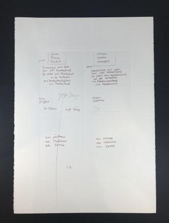 Múltiple Beuys - GLETCHER SCHWAMM TOTENBETT