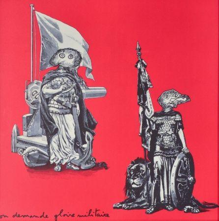 Litografía Baj - Gloire Militaire