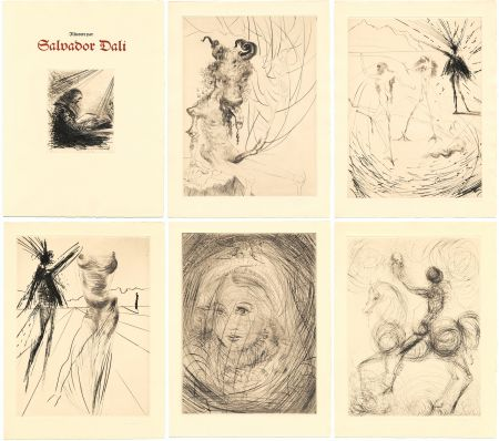 Libro Ilustrado Dali - GOETHE : FAUST. 21 gravures de Salvador Dali (1969