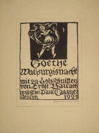 Grabado En Madera Barlach - Goethe, J. W. Von. Walpurgisnacht.