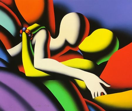 Serigrafía Kostabi - GOING UNDER COVER