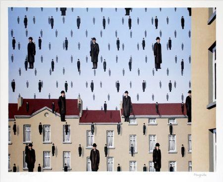Litografía Magritte - Golconde