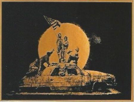 Serigrafía Banksy - Gold Flag