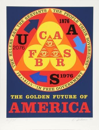 Serigrafía Indiana - Golden Future of America