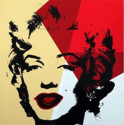 Serigrafía Warhol - Golden Marilyn (By Sunday B. Morning)
