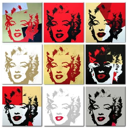 Serigrafía Warhol - Golden Marilyn Monroe Collection A Set Of 10