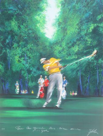 Litografía Spahn - Golfeur jaune II