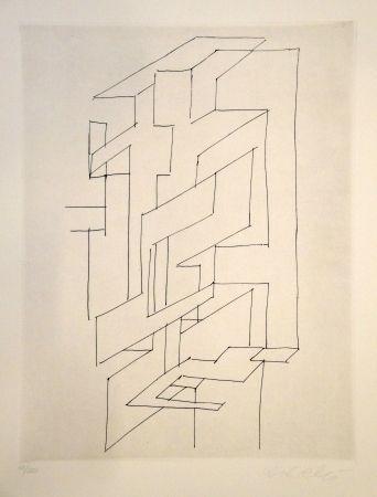 Grabado Vasarely - Gordes gestalt