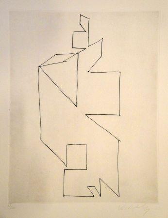 Grabado Vasarely - Gordes Synthèse