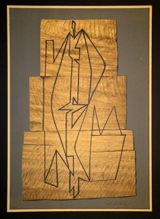 Litografía Vasarely - Gordes Tabor
