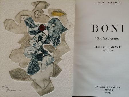 Libro Ilustrado Boni - Grafisculptures - Oeuvre gravé - 1957 - 1970