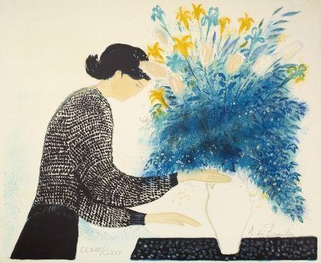 Litografía Brasilier - Grand bouquet du matin