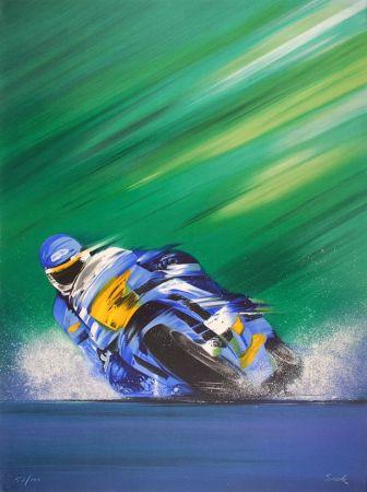Litografía Spahn - Grand prix de Moto