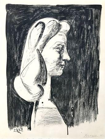 Litografía Picasso - Grand Profil  (Francoise Gilot)