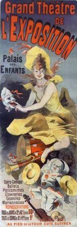 Litografía Cheret - Grand Theatre de l'Exposition