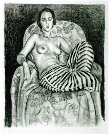 Litografía Matisse - Grande odalisque à la culotte bayadère