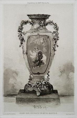 Aguafuerte Y Aguatinta Buhot - Grande vase décoratif