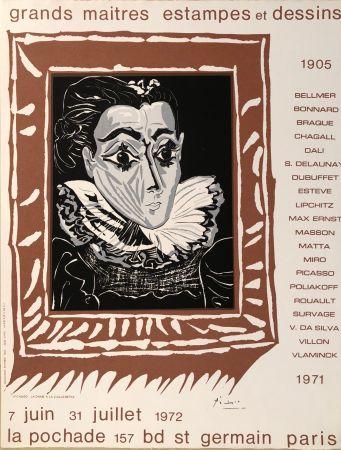 Cartel Picasso - Grands Maîtres Estampes Et Dessins 1905 - 1972 - Galerie La Pochade, 7 Juin - 31 Juillet,1972