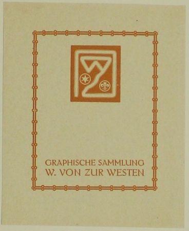 Grabado En Madera Fölkersam (Von) - Graphische Sammlung W. von Zur Westen