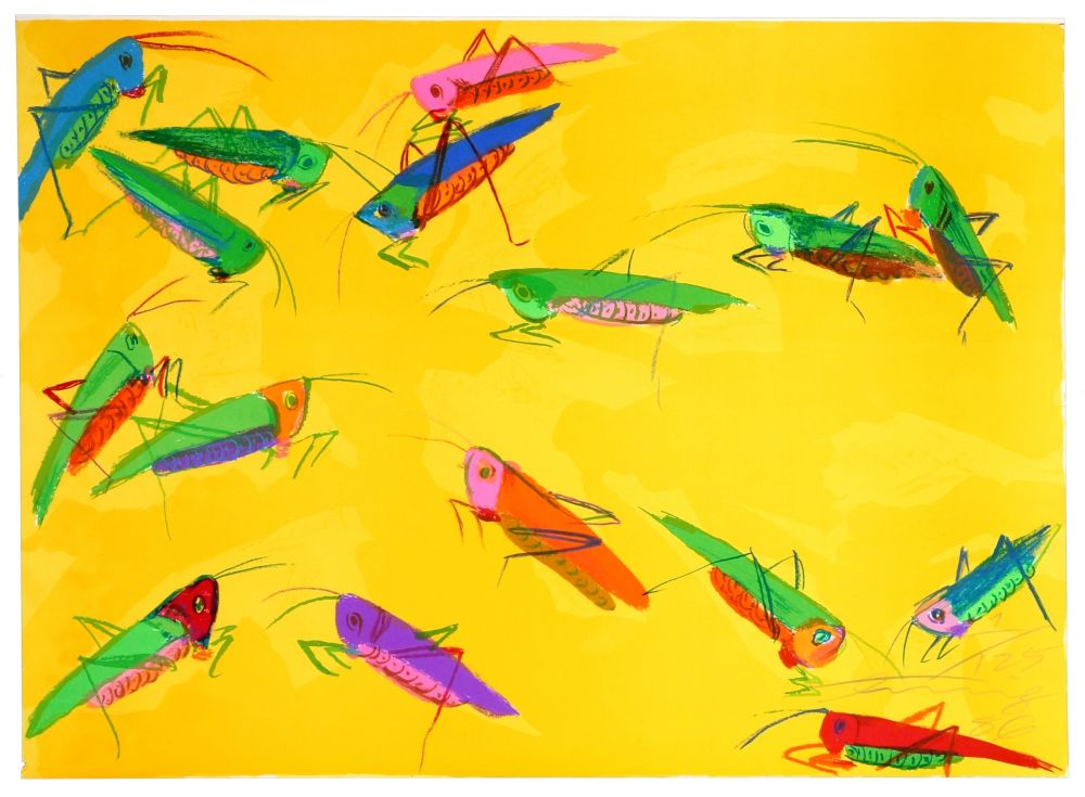 Litografía Ting - Grasshoppers