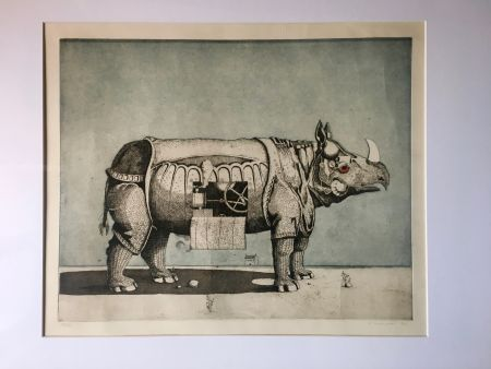 Aguatinta Meckseper - Gravure Aquatinte. Friedrich Meckseper
