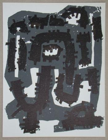 Litografía Ubac - Gravure sur ardoise pour XXe Siècle