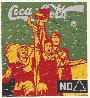 Litografía Guangyi - Great criticism - Coca Cola
