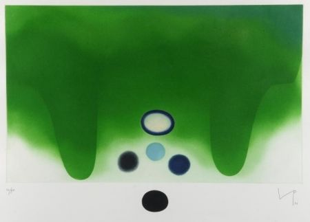 Aguatinta Pasmore - Green Darkness
