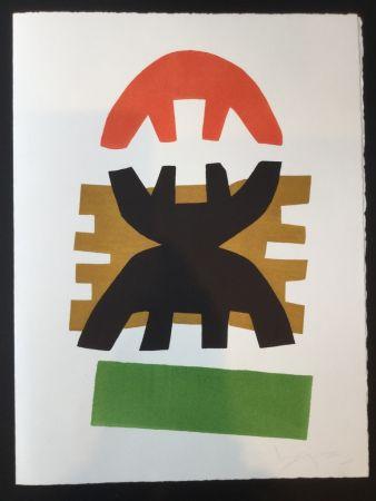 Litografía Capogrossi - Greeting Card