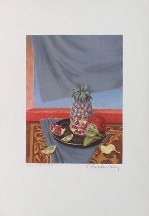 Litografía Chapelain-Midy - Grenades et ananas