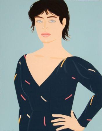 Litografía Katz - Grey Dress (Laura) Diane von Furstenberg Dress