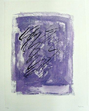 Aguafuerte Y Aguatinta Fautrier - Griffure sur fond violet