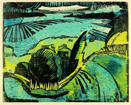 Grabado En Madera Kliemann - Große Havellandschaft (Landscape with Havel river)