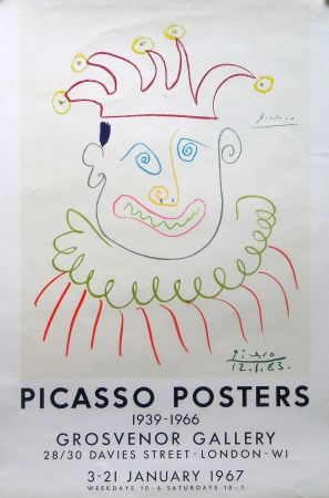 Litografía Picasso - Grosvenor Gallery, London 1967 ed.150 !