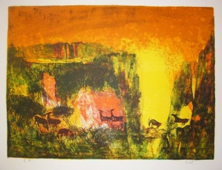 Litografía Lebadang - Grotte aux biches