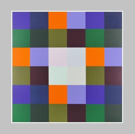 Serigrafía Lohse - Gruppe von 8 Quadraten mit vier Rechtecken
