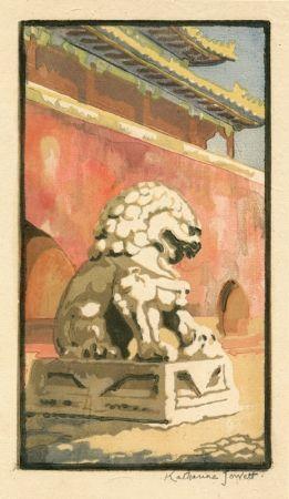 Linograbado Jowett  - Guardian of the Gate