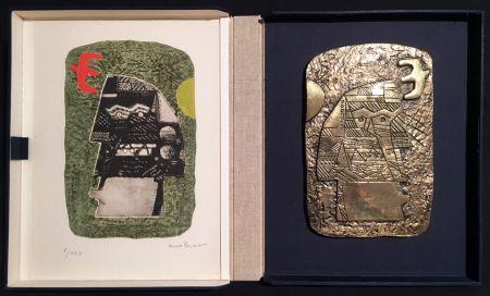 Múltiple Papart - GUERRIER. Un eau-forte signée et un bronze (1977).