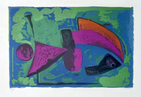 Litografía Marini - Guerriero, 1968
