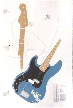 Aguafuerte Herrou -  Guitare bleue