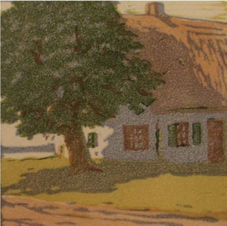 Grabado En Madera Mass - Hütte / Cottage