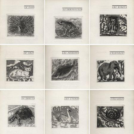 Libro Ilustrado Foujita - H. Chaumet : BÊTES & Cie. 25 eaux-fortes de Foujita (1927).